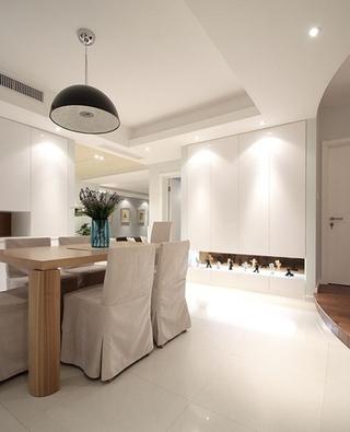 简约风格三室两厅装修餐厅装饰图