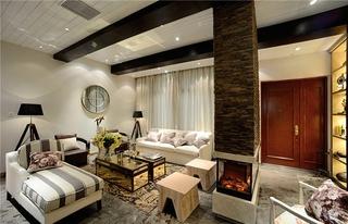 田园风格复式楼装修客厅效果图装修