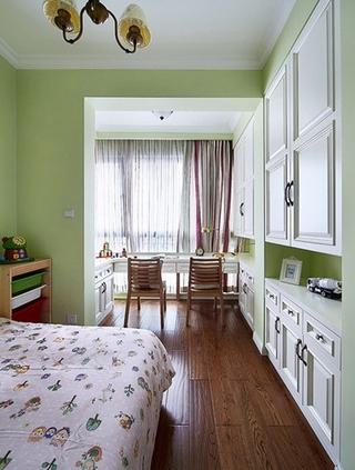 活力绿色系美式 卧室隔断效果图
