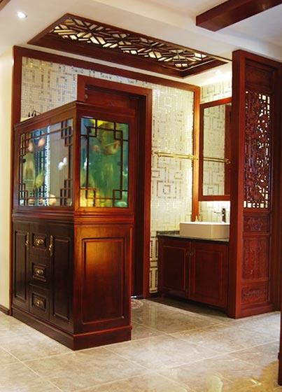 100㎡中式两居室卫生间图片