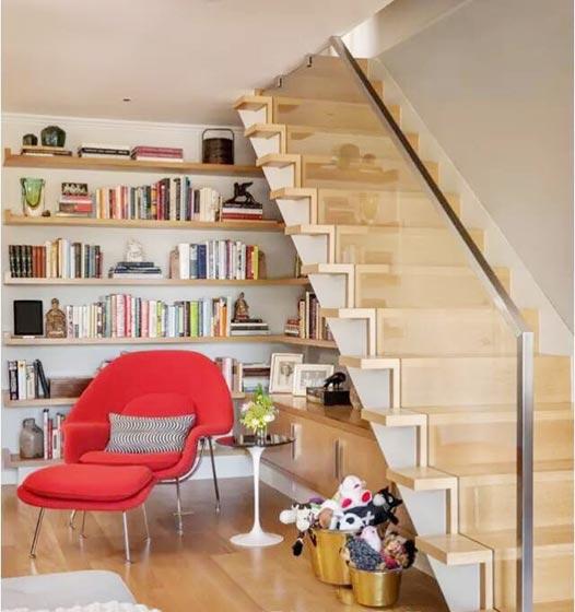 楼梯空间收纳装修装饰效果图