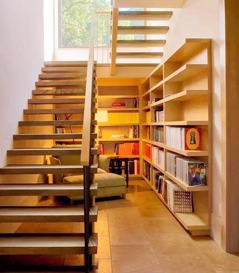 楼梯空间收纳设计实景图