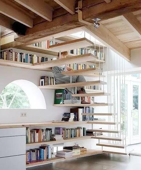 楼梯空间收纳设计装修图