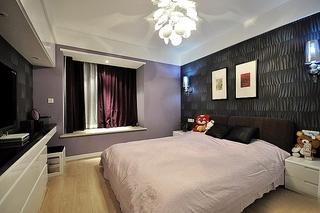 时尚现代都市风卧室带飘窗设计