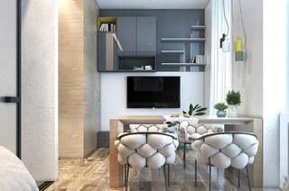 40平小户型公寓餐厅餐桌图片