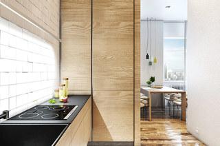 40平小户型公寓厨房装潢设计图