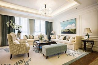 现代风格四房装修客厅效果图