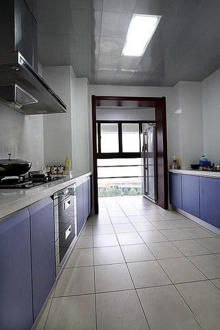 美式风格装修三居室厨房设计装修