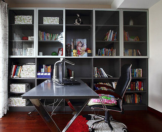 美式风格装修三居室书房效果图设计