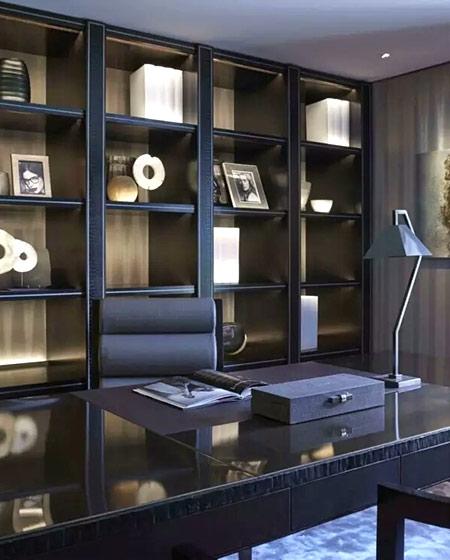 中式风格办公室书柜设计图