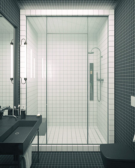 简约风格三居室卫生间效果图