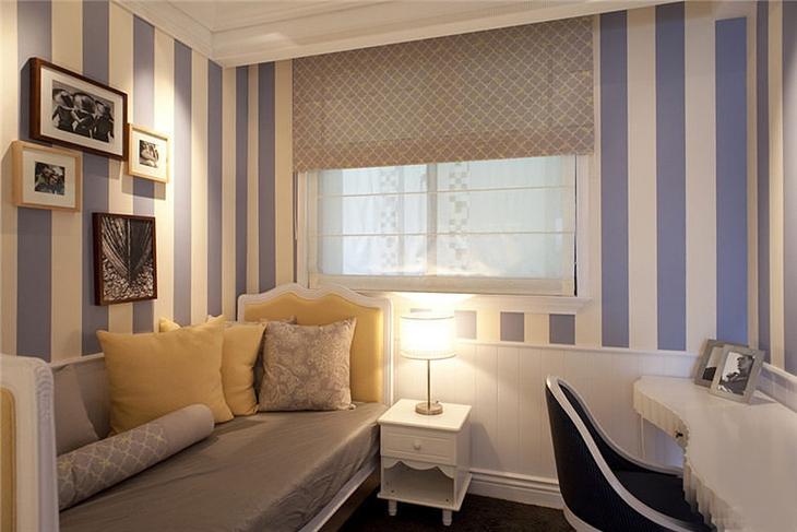 欧式风格装修三居室书房沙发床设计