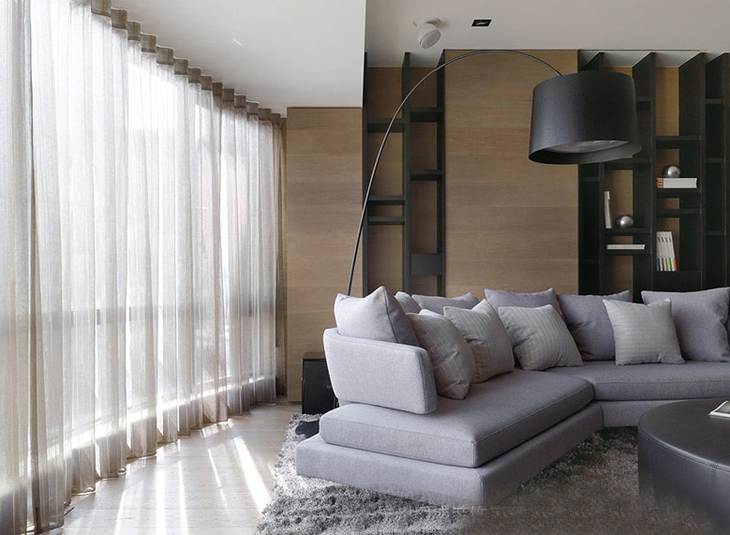 简约风格三居室装修布艺沙发设计