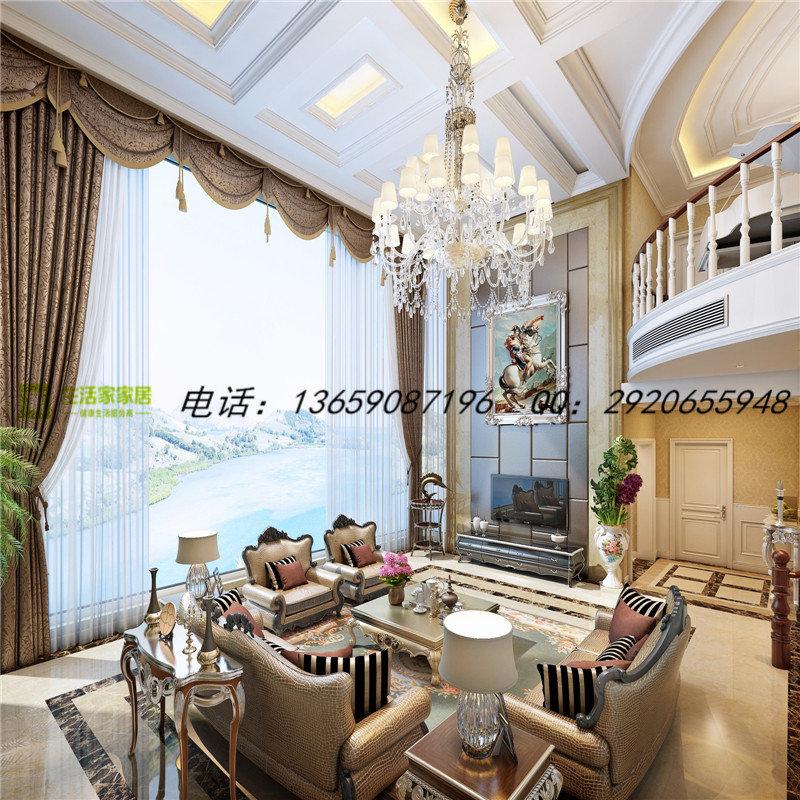 装修设计 南充装修 南充装修案例 欧式风格别墅装修效果图图片