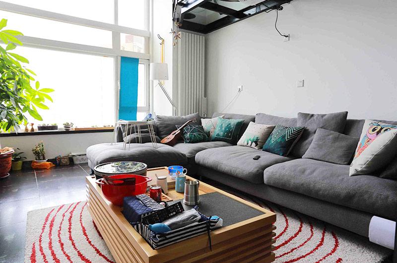 舒适简约风 灰色沙发效果图