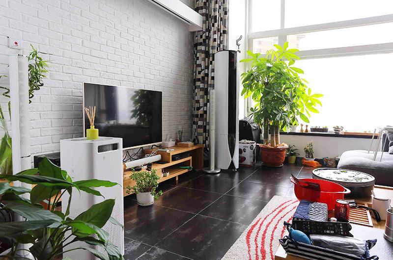 108平loft公寓客厅电视柜图片