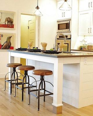 开放式厨房吧台代餐桌图片