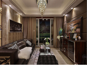 欧式风格三房两厅装修效果图 低调的奢华