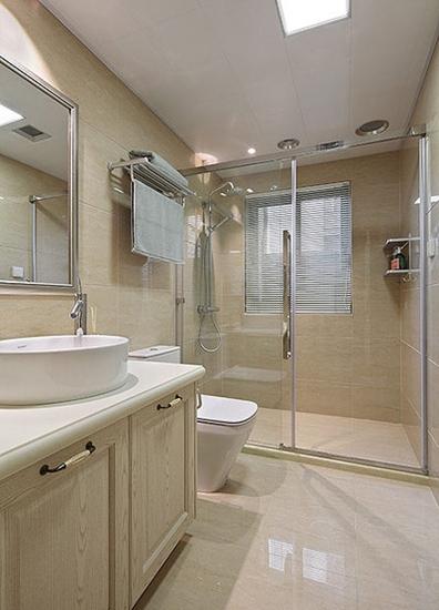 15万装美式混搭风格两居室卫生间设计