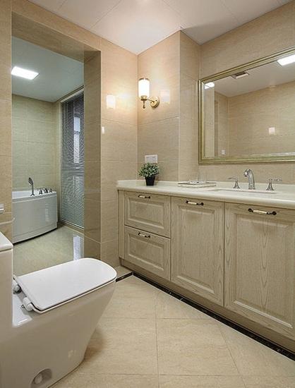 15万装美式混搭风格两居室卫生间效果图
