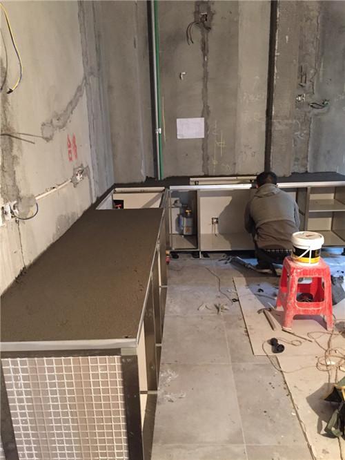 自制瓷砖橱柜制作过程
