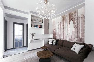 100㎡现代简约两居室装修装饰效果图