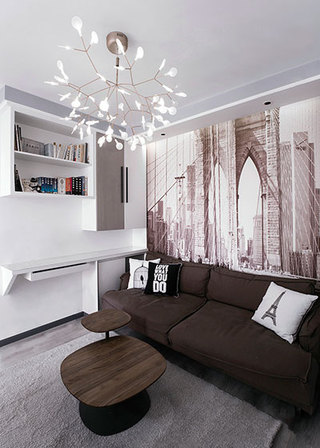 100㎡现代简约两居室设计图