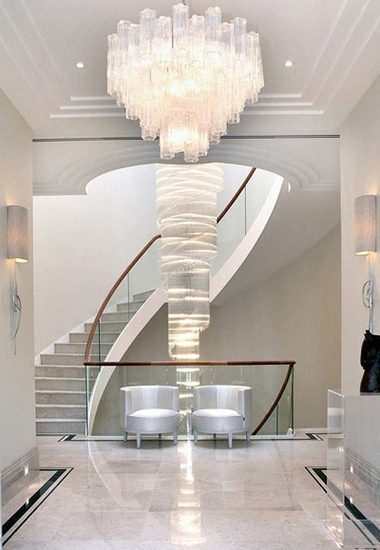 新古典风格别墅装修楼梯设计图_齐家网装修效果图