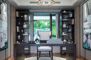 132平中式样板房书房效果图装修