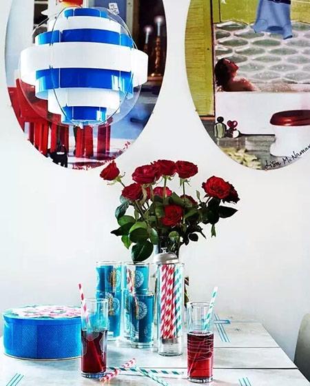 60平小公寓餐厅镜子背景墙