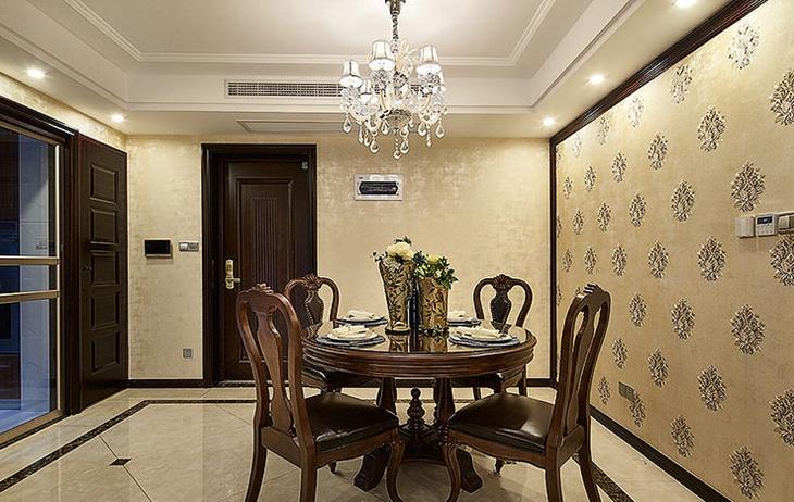 古典美式餐厅装饰设计图