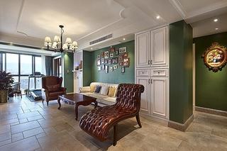 美式风格三室两厅装修客厅效果图