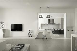 黑白调演绎新时尚 简约风格两室两厅效果图9/9