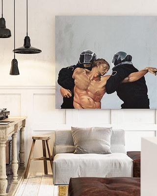 混搭风格两居室客厅效果图
