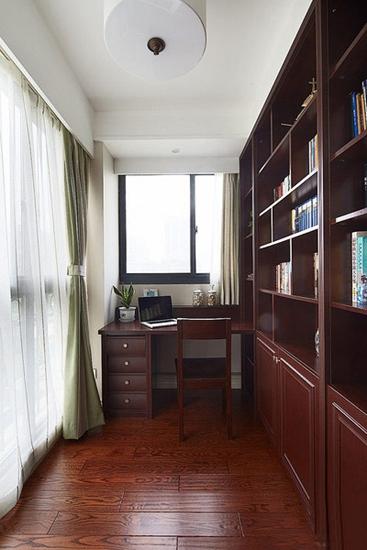 休闲美式书房 实木家具效果图