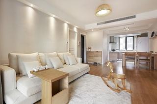 日式风格三室两厅装修客厅效果图