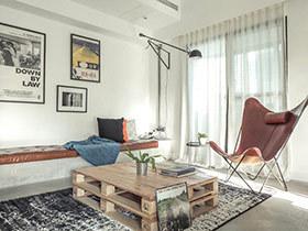 100平loft公寓旧房改造装修 法式慵懒生活
