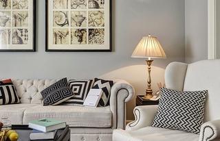 法式风格三居室设计布艺沙发设计