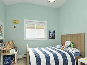 小清新薄荷绿卧室装潢案例欣赏