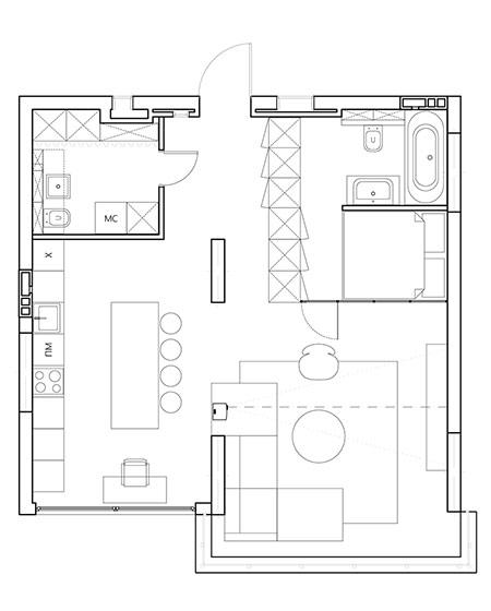 平面图 公寓