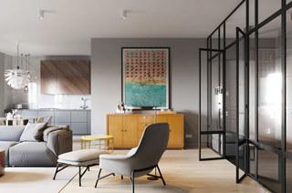 混搭风格二居室客厅效果图