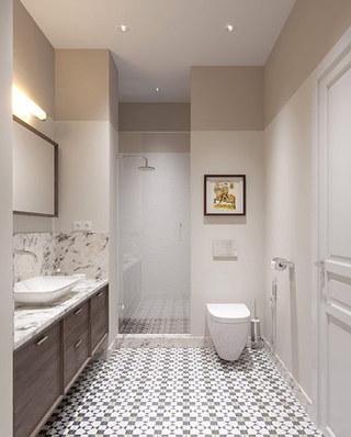 混搭风格二居室浴室效果图装修