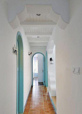 室内走廊布置摆放图