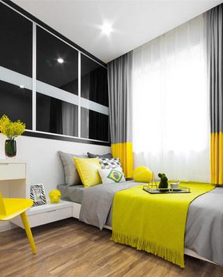 90平简约风样板房次卧室装潢设计