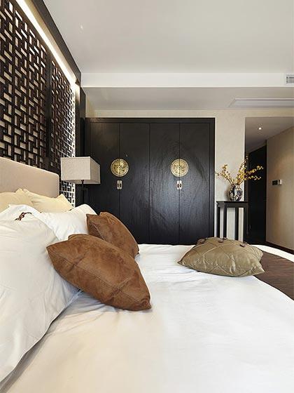 120平米中式两居室卧室效果图