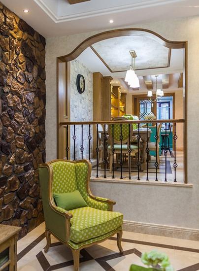 美式风格小复式装修客厅隔断装修
