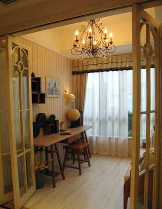 田园风格两居室装修小书房装修