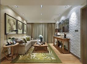 春意盎然 迷人的田园风格三居室装修效果图