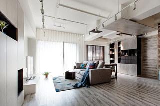 北欧风格公寓客厅吊顶装修