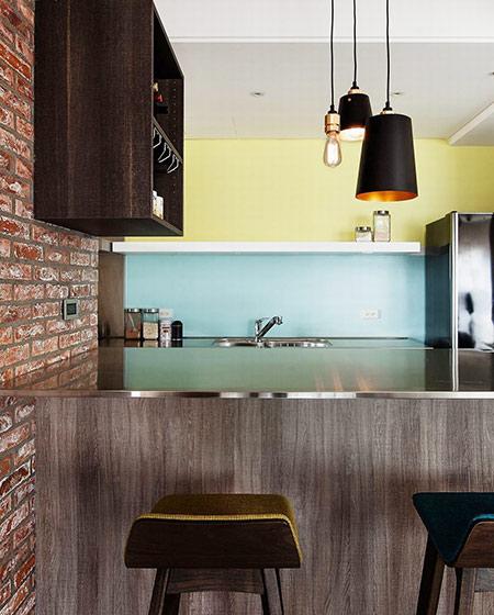 北欧风格公寓吧台效果图